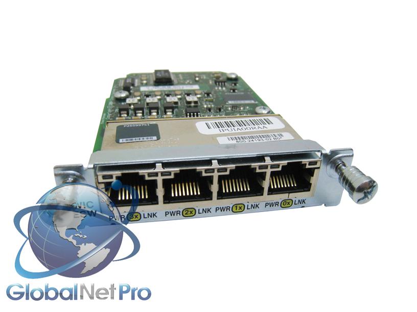 New Cisco HWIC-4ESW Ethernet Switch High Speed WIC Card